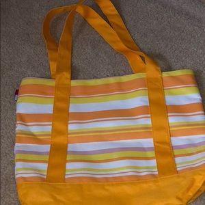 TOMMY HILFIGER Orange Stripe Beach Bag